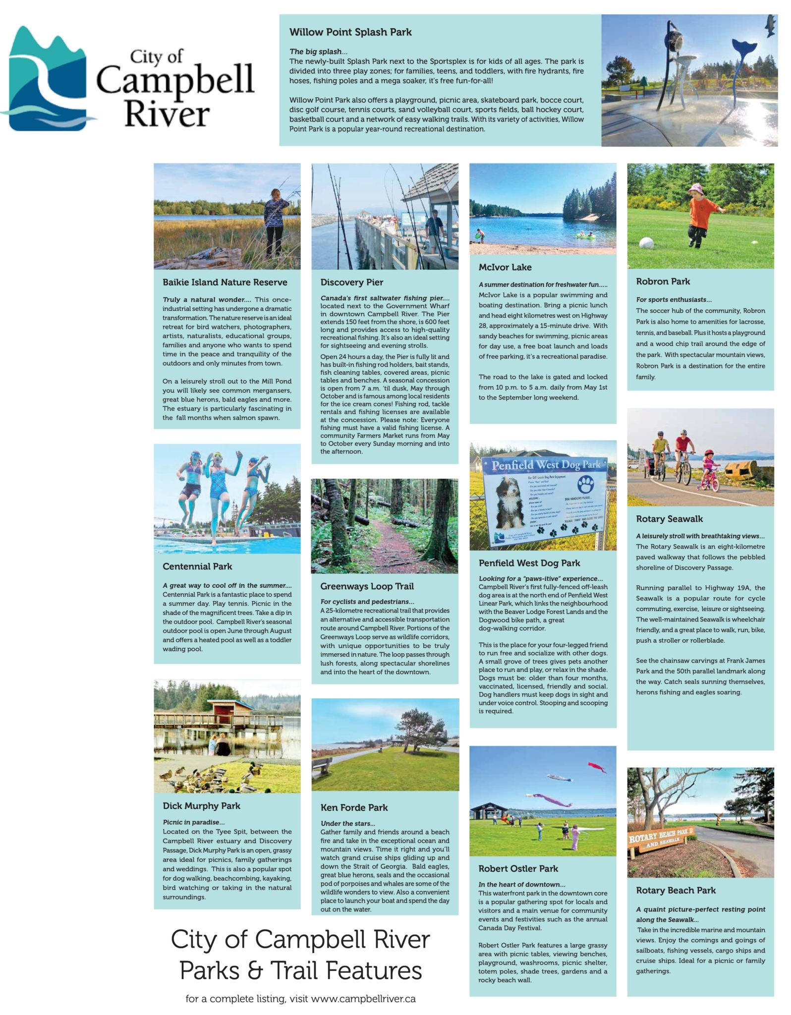Campbell River Parks & Trail Features
