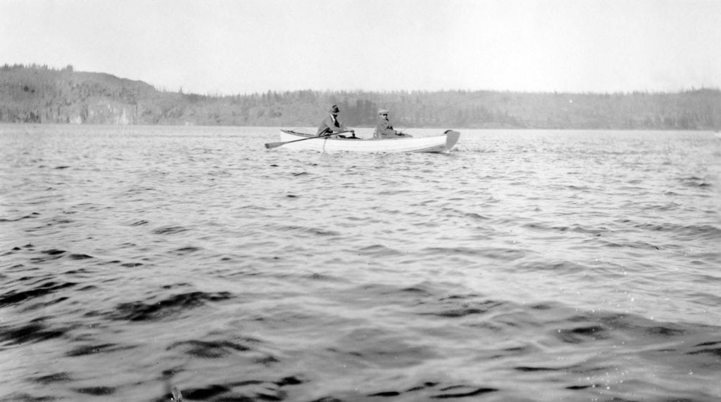 CRM 11000 Courtesy Museum at Campbell River – Herbert Pidcock fishing with the King of Siam