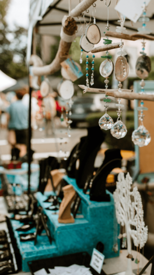 Artisan wares at a night market in Campbell River