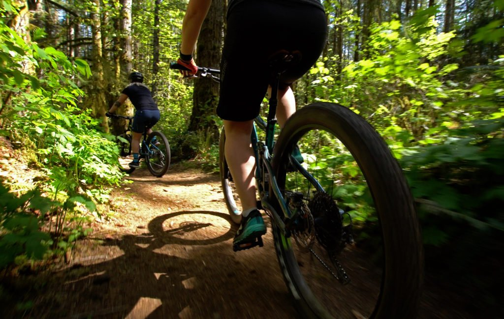 Biking in Campbell River