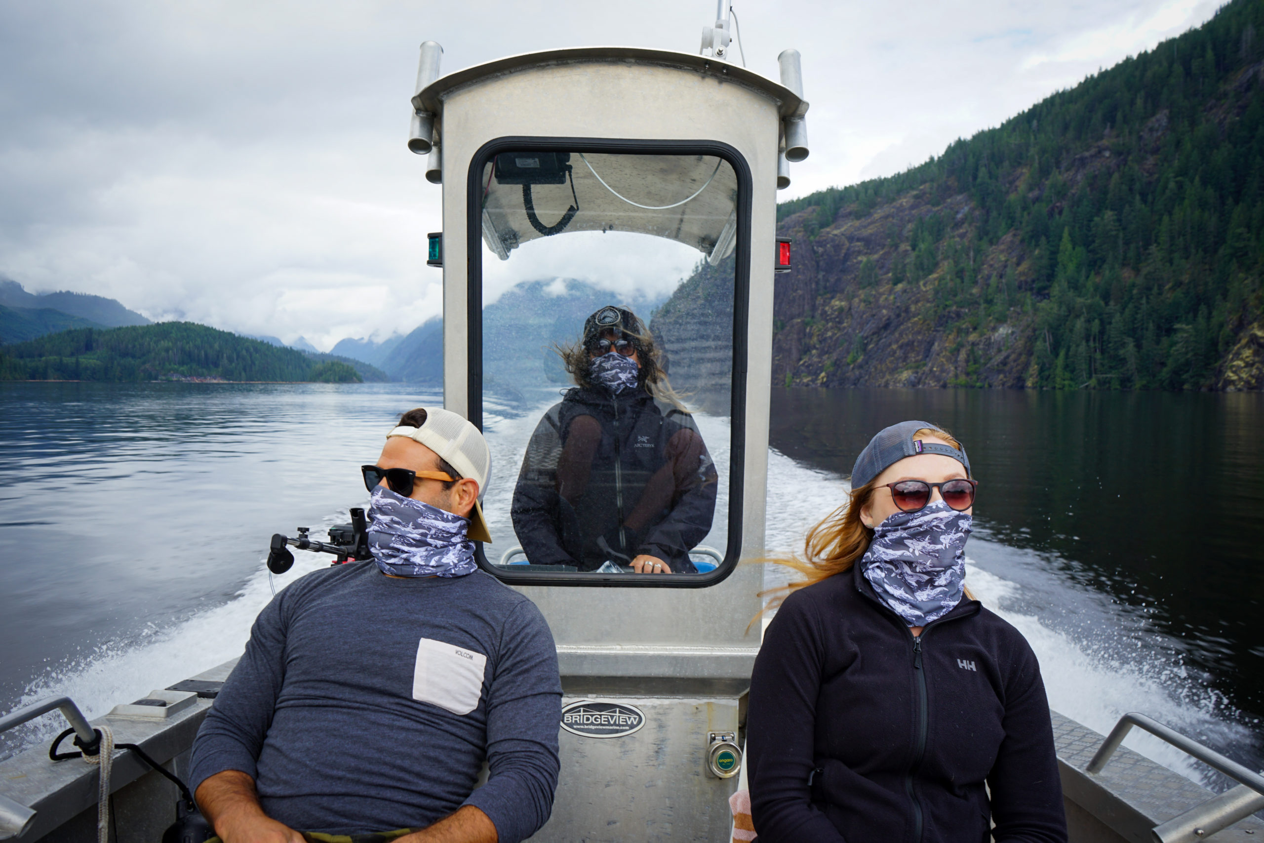 Wearing face coverings on an adventure tour