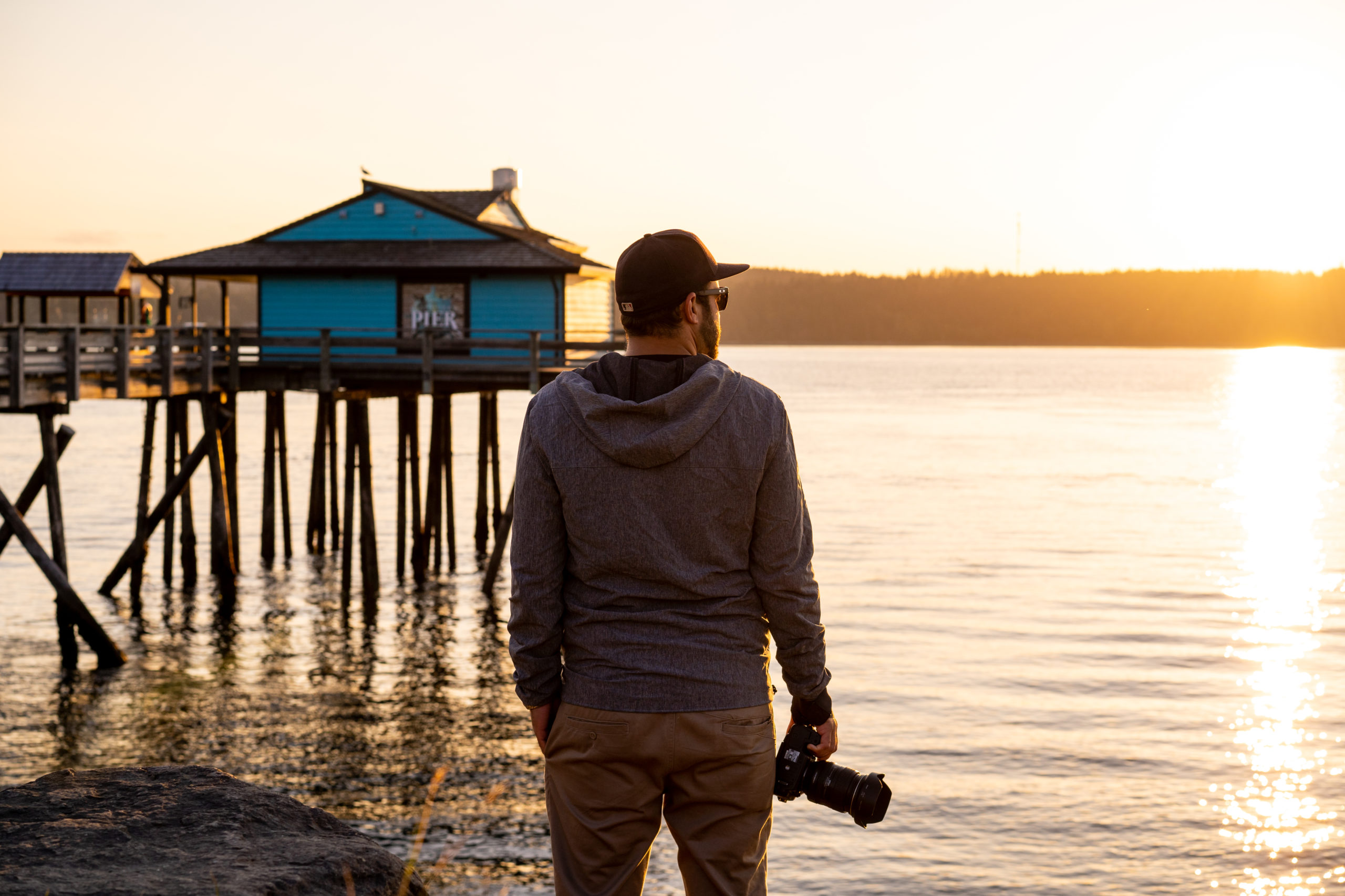 Photographer at the Discovery Pier