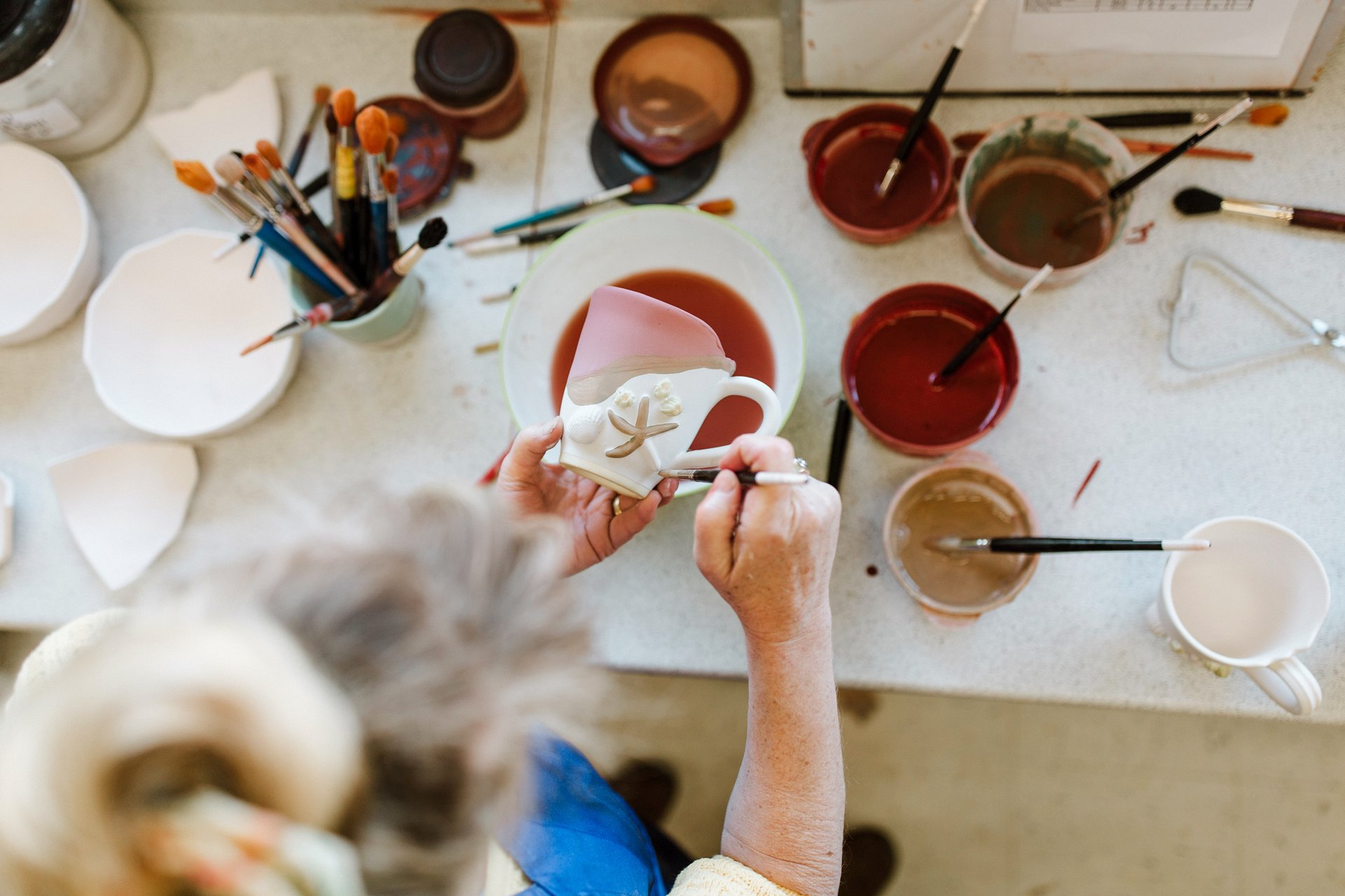 Photo by Bluetree Photography taken at Mussels and More Pottery