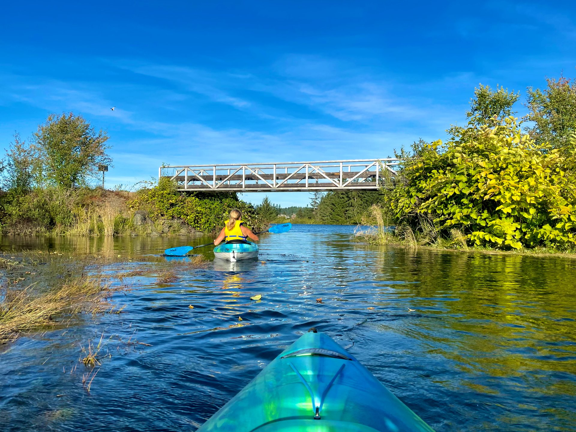 kayaking on the campbell river
